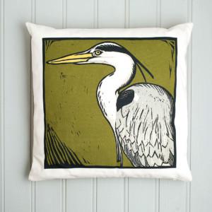 Grey Heron single cushion